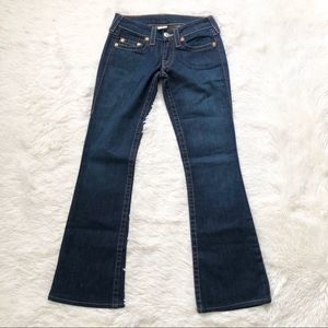 True Religion Bobby Low Rise Boot Leg Jeans 26